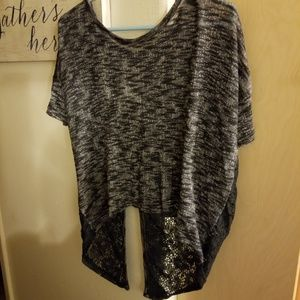 Beautiful shirt with lace open back.